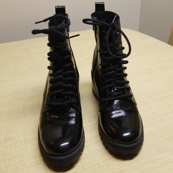 Patent Leather Combat Boots | Poshmark